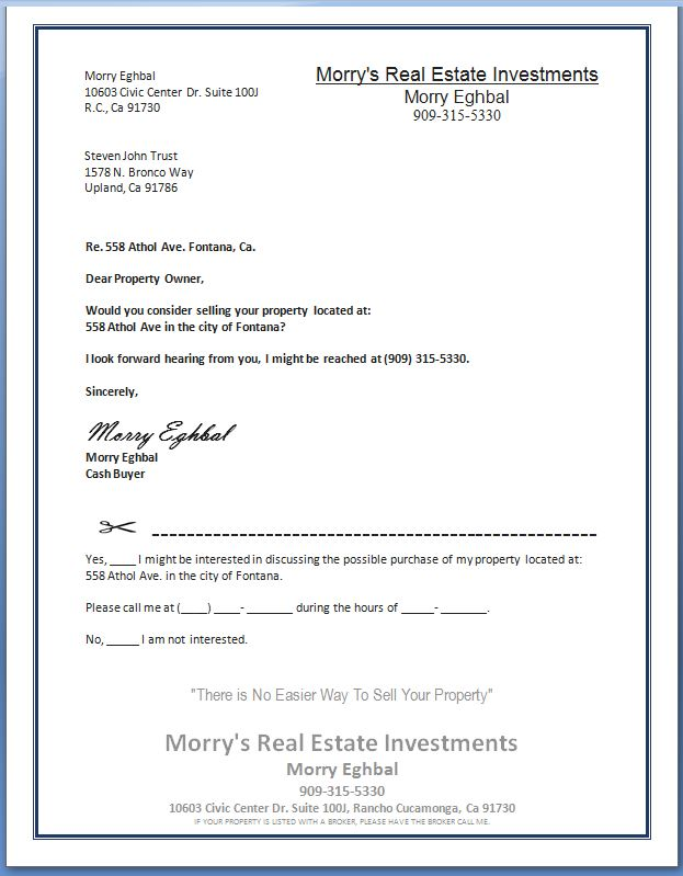 Morrys Real Estate Investment image