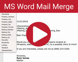 MSWord Mail Merge